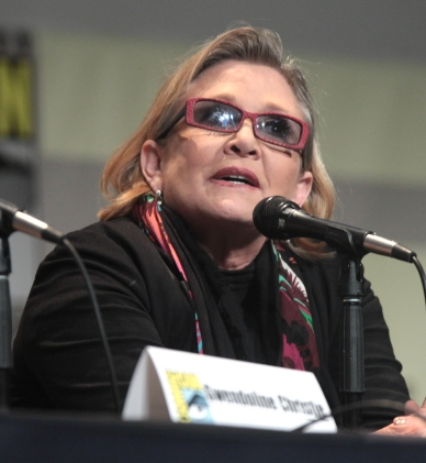 SDCC_2015_-_Carrie_Fisher_(19655495036)_(cropped)