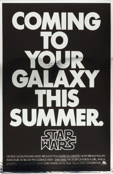 1977 Star Wars Mylar Advance Poster