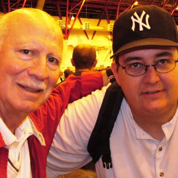 Me with Alan Oppenheimer (Dr Rudy Wells 2)