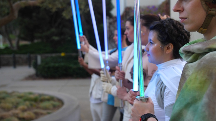 Carrie lightsaber salute