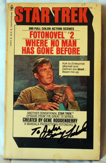Signed by Gary Lockwood (Cdr Gary Mitchell)